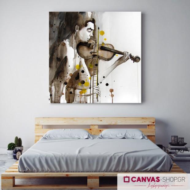 Άνθρωπος με βιολί, πίνακας σε καμβά
