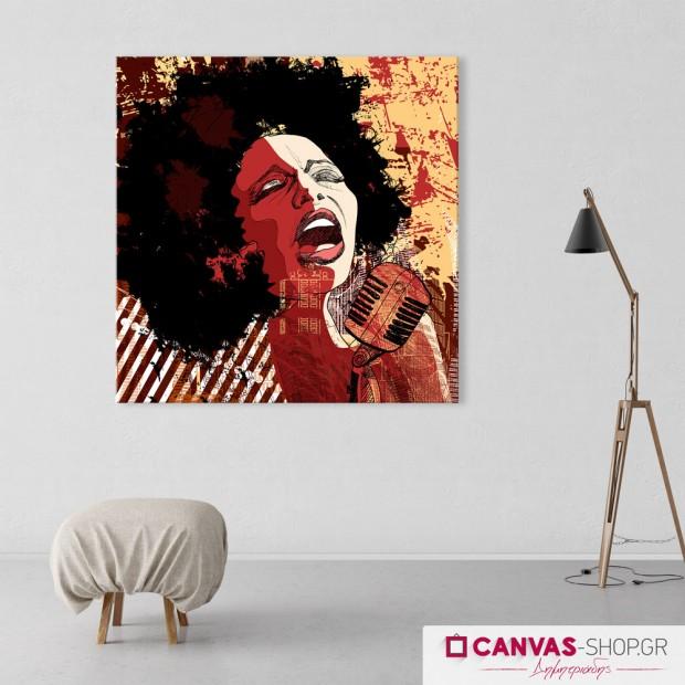 Τραγουδίστρια, πίνακας σε καμβά