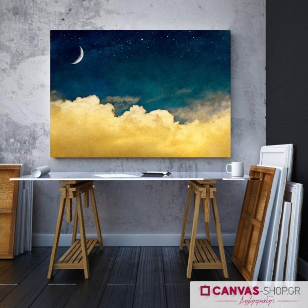 Ουρανός τη Νύχτα, πίνακας σε καμβά