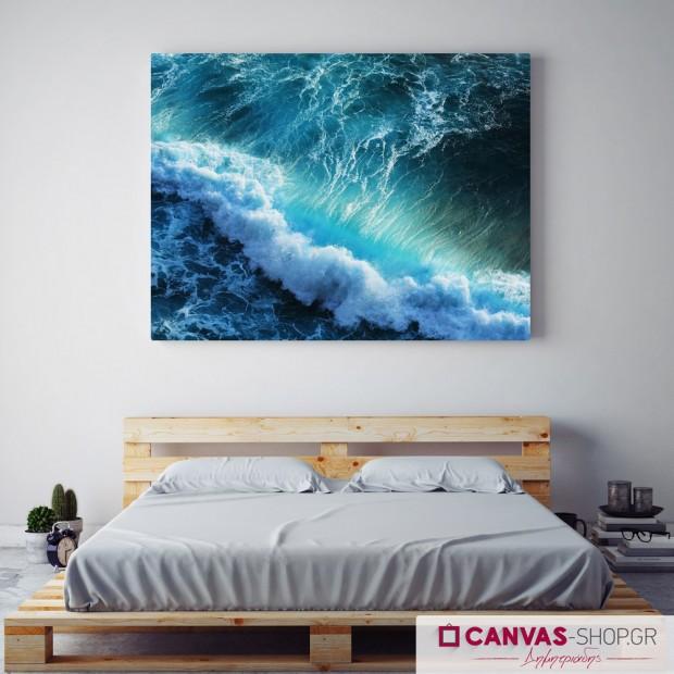 Κύματα, πίνακας σε καμβά