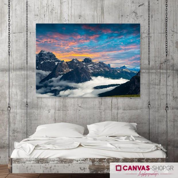 Οροσειρά, πίνακας σε καμβά