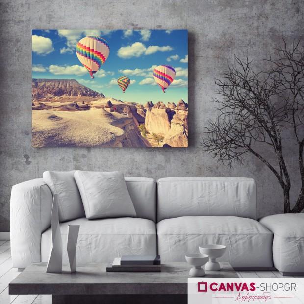 Αερόστατα, πίνακας σε καμβά