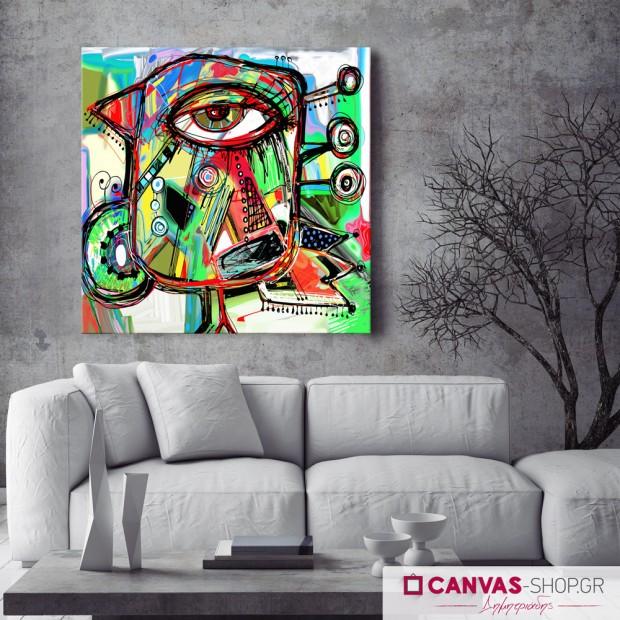 Αφηρημένο Πρόσωπο, πίνακας σε καμβά