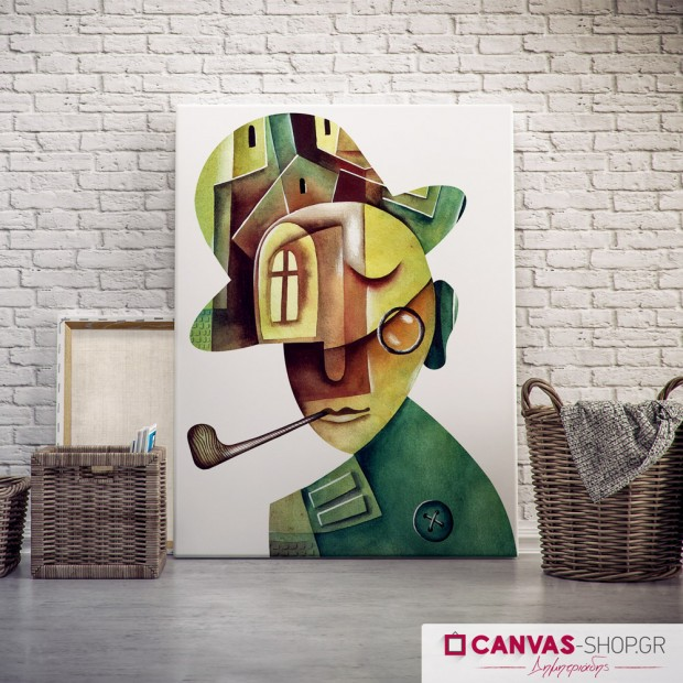 Αφηρημένο Πορτρέτο Άνδρα, πίνακας σε καμβά
