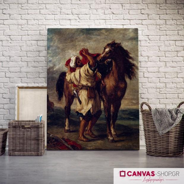 Delacroix: Άραβας, πίνακας σε καμβά