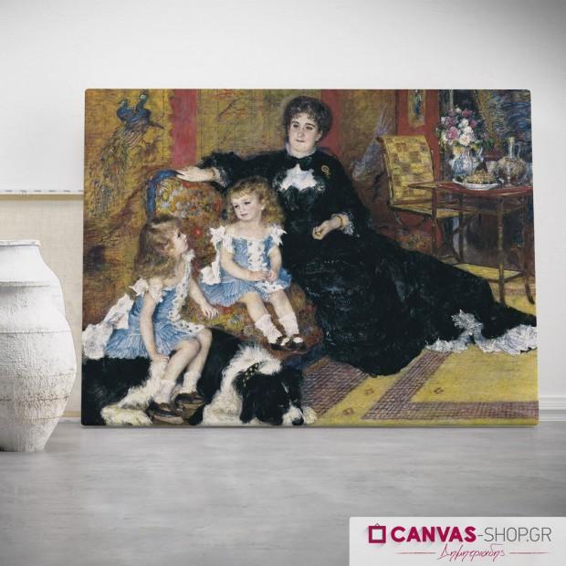 Renoir, Pierre-Auguste: Η κυρία Σαρπαντιέ και τα παιδιά της, πίνακας σε καμβά