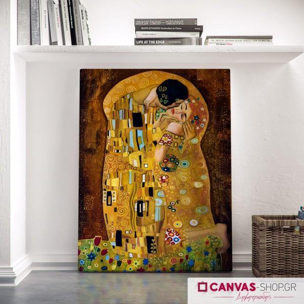 Gustav Klimt: Φιλί, πίνακας σε καμβά