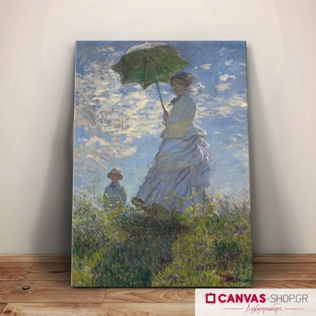 Claude Monet:Γυναίκα με ομπρέλα , πίνακας σε καμβά
