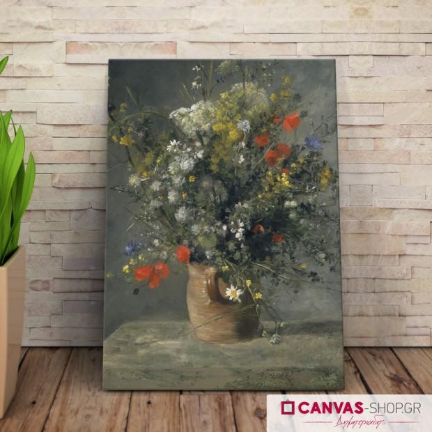 Auguste Renoir:  Λουλούδια στο βάζο, πίνακας σε καμβά