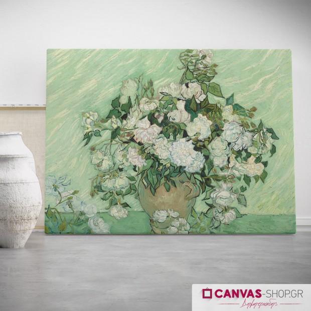 Vincent van Gogh : Τριαντάφυλλα , πίνακας σε καμβά