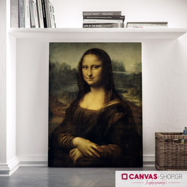 Leonardo da vinci : The Mona Lisa , πίνακας σε καμβά
