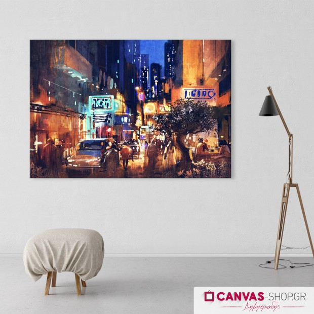 New York night, πίνακας σε καμβά