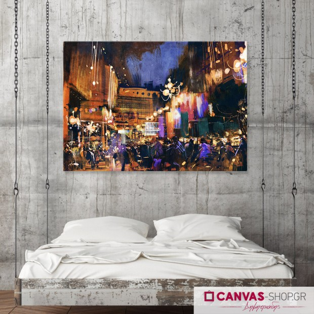 City Night, πίνακας σε καμβά