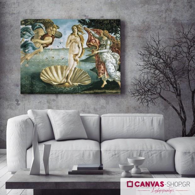 Sandro Botticelli : Η Γέννηση της Αφροδίτης , πίνακας σε καμβά