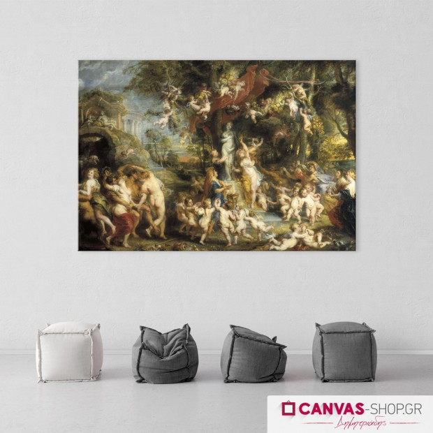 Rubens: Η λατρεία της Αφροδίτης, πίνακας σε καμβά