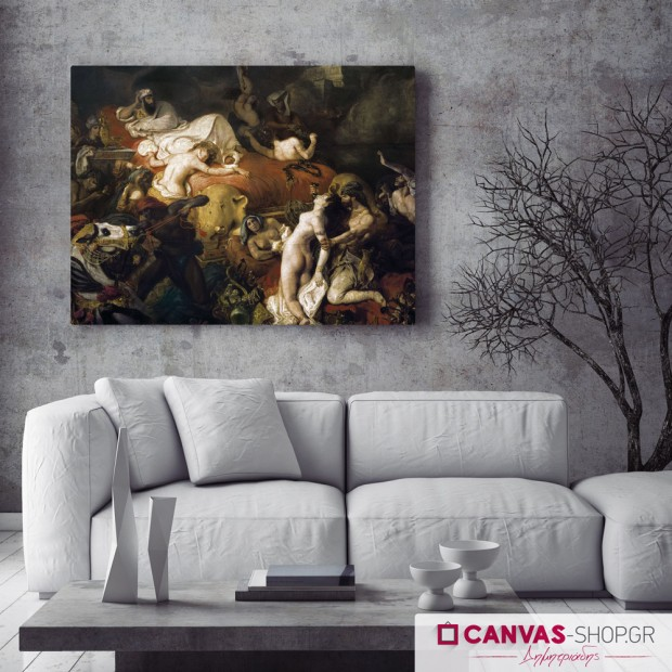 Delacroix: Ο Θάνατος του Σαρδανάπαλου, πίνακας σε καμβά