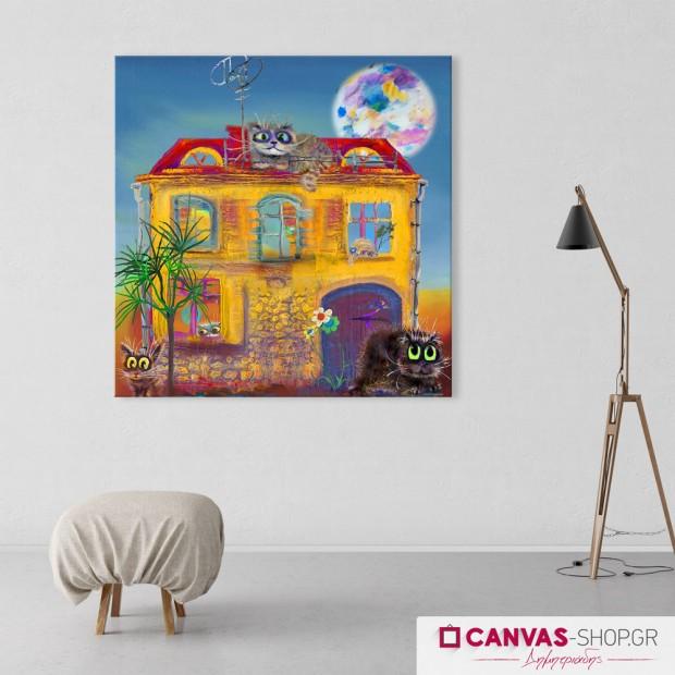 Γατούλες, πίνακας σε καμβά
