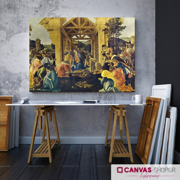 Botticelli: Η προσκύνηση των Βασιλέων, πίνακας σε καμβά