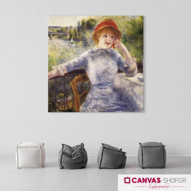 Renoir: Alphonsine Fournaise, πίνακας σε καμβά