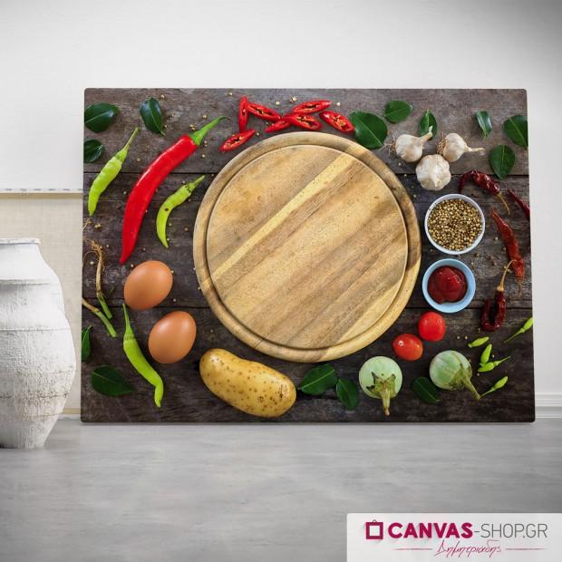 Λαχανικά, πίνακας σε καμβά