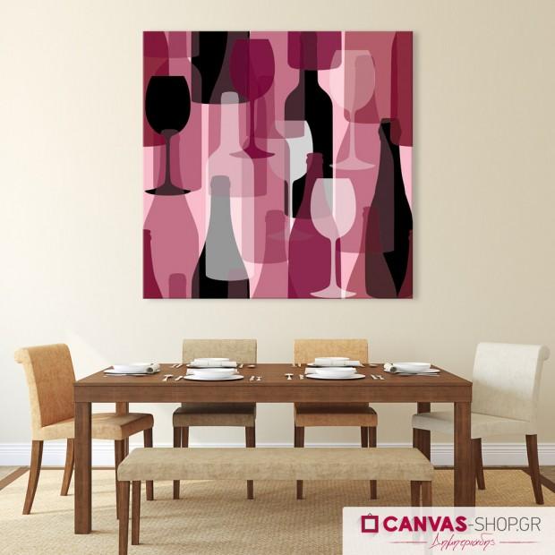 Κρασί, πίνακας σε καμβά