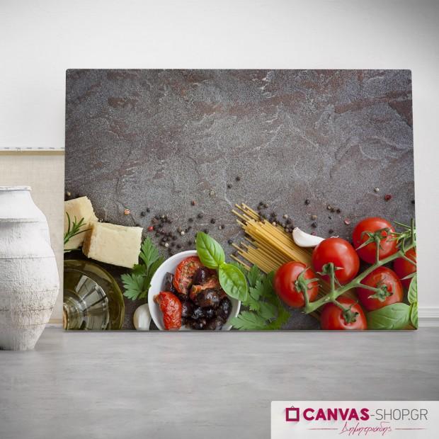 Μαγειρική , πίνακας σε καμβά