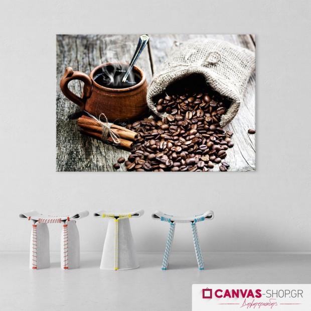 Ζεστός Καφές , πίνακας σε καμβά