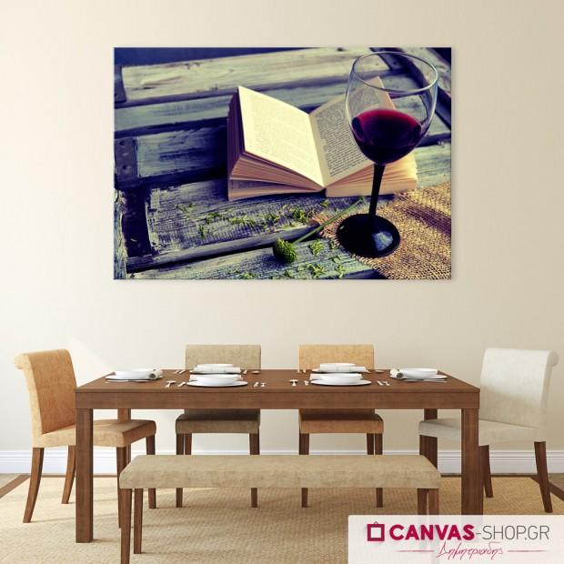 Κρασί , πίνακας σε καμβά