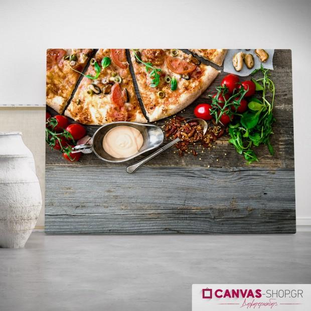 Pizza , πίνακας σε καμβά