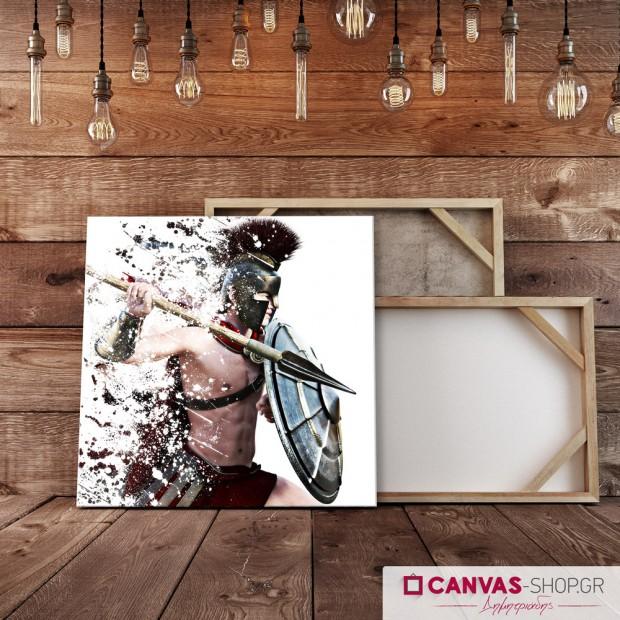 Πολεμιστής, πίνακας σε καμβά