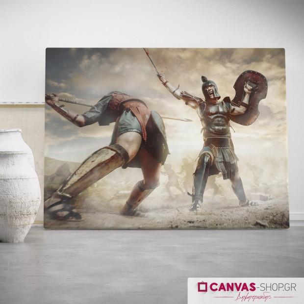 Μάχη, πίνακας σε καμβά