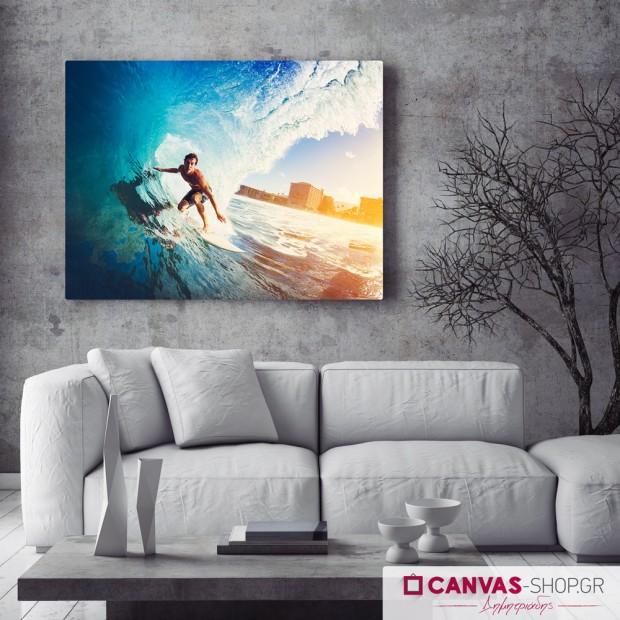 Surfing, πίνακας σε καμβά