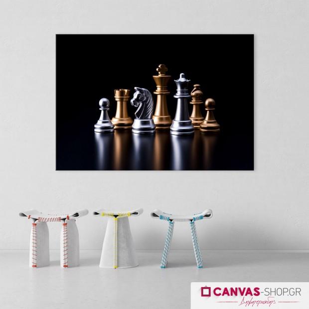 Σκάκι, πίνακας σε καμβά