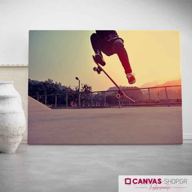 Skateboard, πίνακας σε καμβά