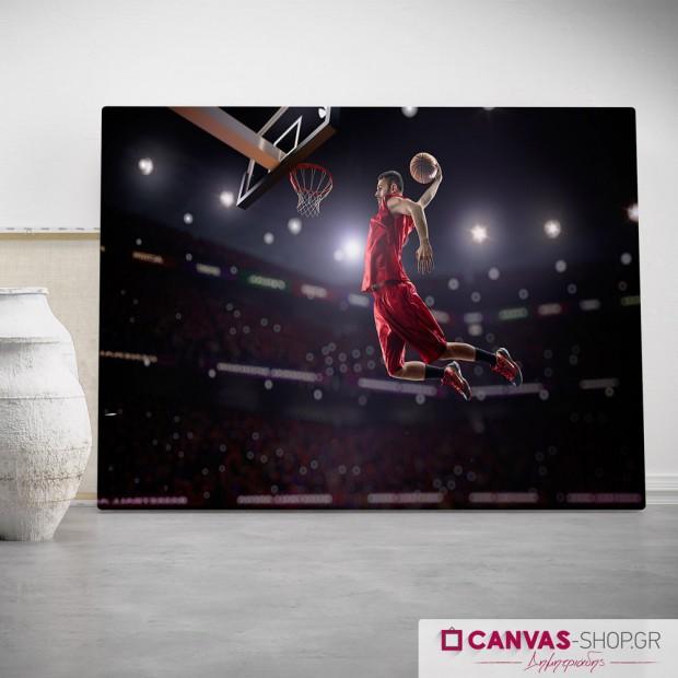 Μπάσκετ, πίνακας σε καμβά