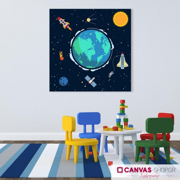 Διάστημα, πίνακας σε καμβά