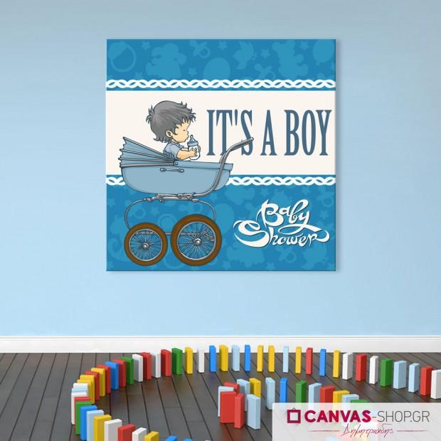 It's a boy, πίνακας σε καμβά
