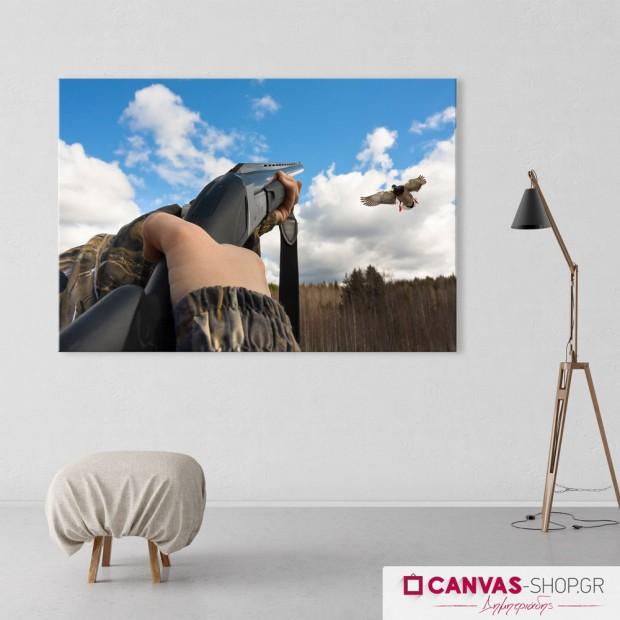 Κυνήγι, πίνακας σε καμβά