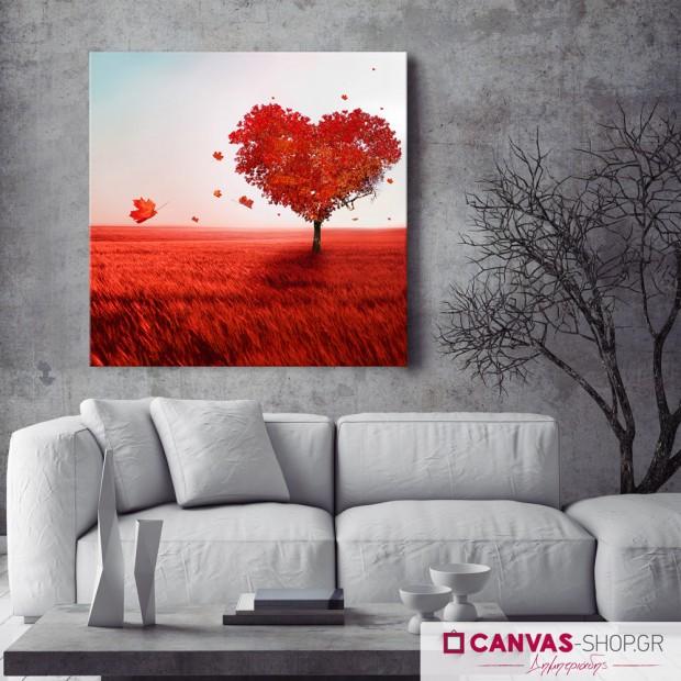 Δέντρο Καρδιά, πίνακας σε καμβά