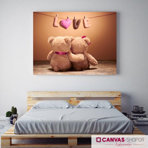 Αρκουδάκια, πίνακας σε καμβά