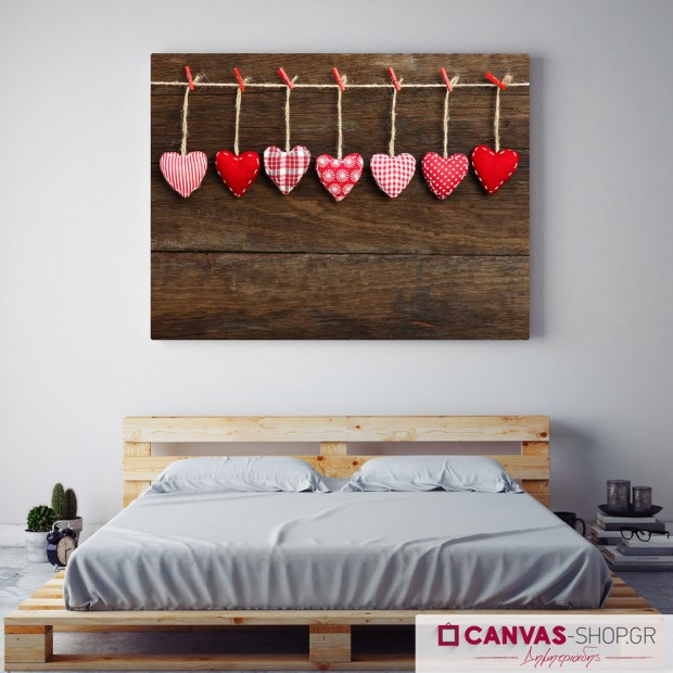 Κρεμασμένες Καρδιές, πίνακας σε καμβά