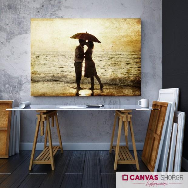 Ζευγάρι με Ομπρέλα, πίνακας σε καμβά