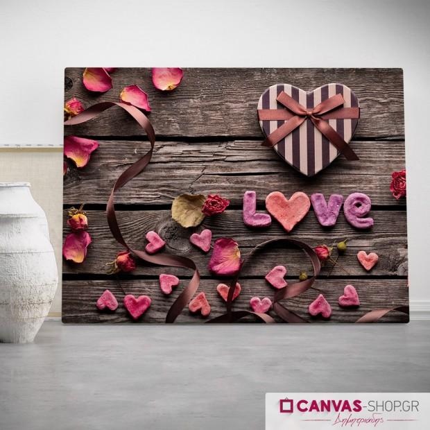 Κουτί Αγάπης, πίνακας σε καμβά
