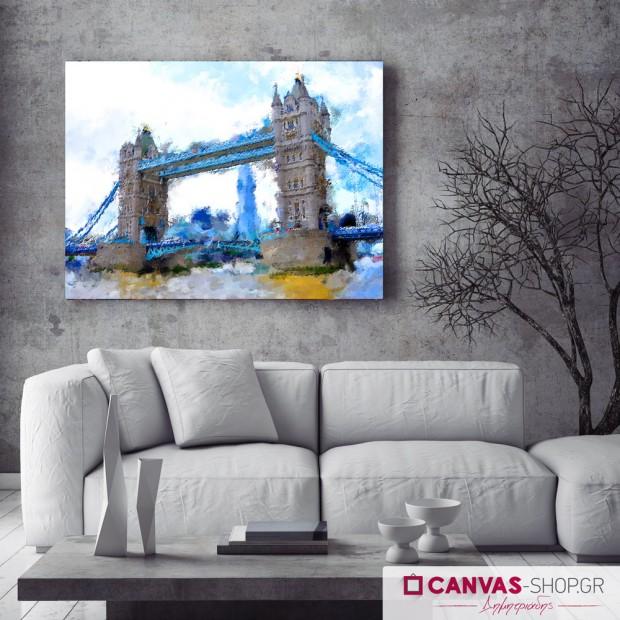 Γέφυρα , πίνακας σε καμβά