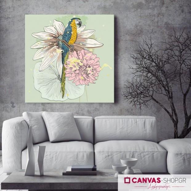 Παπαγάλος, πίνακας σε καμβά