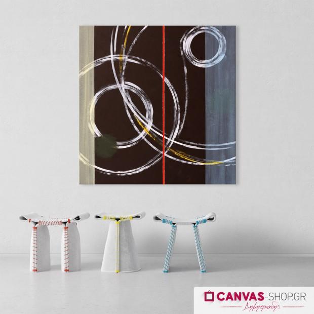 Κύκλοι, πίνακας σε καμβά