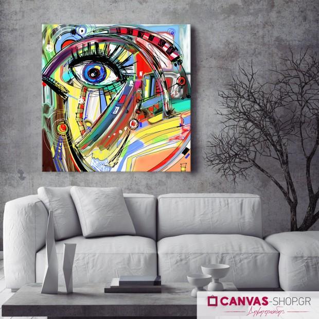 Μάτι, πίνακας σε καμβά