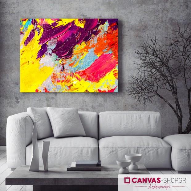 Πινελιές , πίνακας σε καμβά