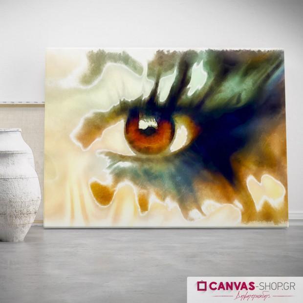 Μάτι , πίνακας σε καμβά