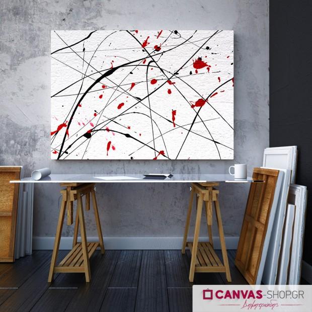 Πινελιές, πίνακας σε καμβά